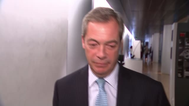 Theresa May rejects Donald Trump's call to appoint Nigel Farage to role of UK Ambassador FRANCE Strasbourg European Parliament INT Nigel Farage MEP...