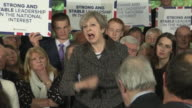 Theresa May saying her message is 'a vote for myself and the local Conservative candidate is a vote to strengthen our hand in the Brexit negotiations'