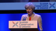 Theresa May saying 'let us never stop making loudly and clearly the positive optimistic and passionate case for our precious union of nations and of...