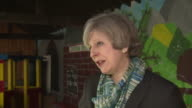 Theresa May saying that her government are investing in the Nuclear industry on a visit to Copeland