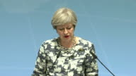 Theresa May saying that she has called for international cooperation on informationsharing about foreign fighters and agreed with other G20 member...
