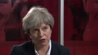 Theresa May saying the government has acted on previous recommendations regarding tower block hazards but they 'need to get to the bottom' of what...
