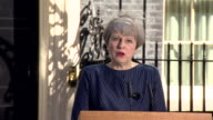 Theresa May saying the public has a choice between 'strong and stable leadership in the national interest or a weak and unstable coalition government'