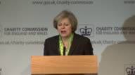 Theresa May saying 'when you see others prospering while you are not resentments grow'