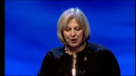 Theresa May says government will hand back powers to police May speech SOT A big part of the answer comes from finding the waste and cutting it out /...