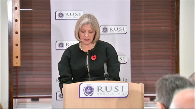 Theresa May speech at RUSI Theresa May speech SOT Just across the Red Sea from Yemen the AlQaeda linked extremist group Al Shabaab in Somalia has...