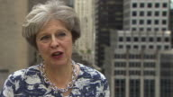 Theresa May stresses that she and Boris Johnson are not at odds over Brexit negotiations New York September 2017 NNBZ122H ABSA627D