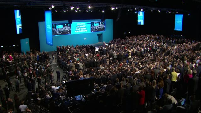 Theresa May to take 'personal charge' of government plans to fix 'broken' housing market October 2017 INT Conservative Party conference Conservative...