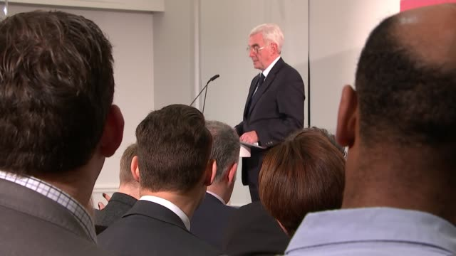 Theresa May to take 'personal charge' of government plans to fix 'broken' housing market Westminster INT John McDonnell MP on stage and ineterview...