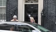 Theresa May UK prime minister leaves number 10 Downing Street on her way to speak in the House of Commons in London UK on Wednesday March 29 2017