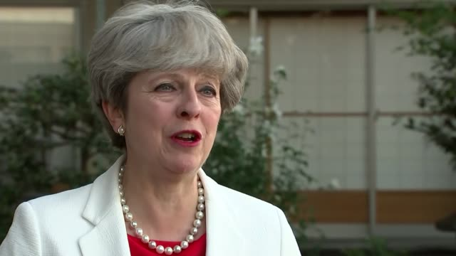 interview JAPAN Kyoto EXT Theresa May interview re Japanese trade and EU deal / Copying EU deals / North Korea tensions / military action / quitting...