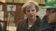 Theresa May visiting a steelworks in Newport on the general election campaign trail