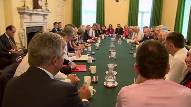 Theresa May vows to carry on amid rumours of leadership challenge LIB / 1262017 Number 10 INT Various of Theresa May chairing the first cabinet...