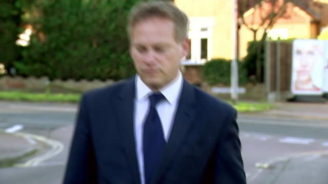 Theresa May vows to carry on amid rumours of leadership challenge Hertfordshire Welwyn Garden City EXT Grant Shapps MP walking shot and interview SOT...