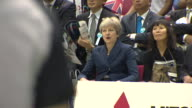 Theresa May watching the Great Britain men's basketball team in Japan