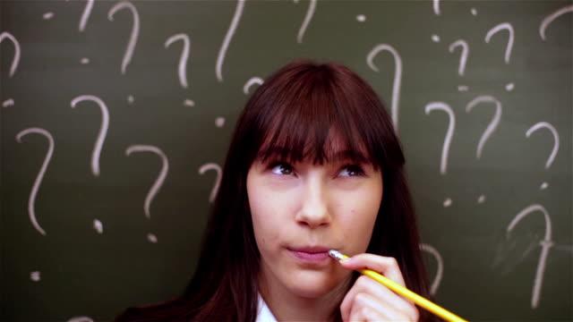 Schüler Mädchen Denken