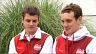 Third day of competition Alistair Brownlee interview SOT Jonny Brownlee interview SOT