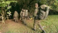 Third soldier dies after Brecon Beacons training exercise File / Date Unknown WALES Brecon Beacons EXT Various shots of group of soldiers with full...