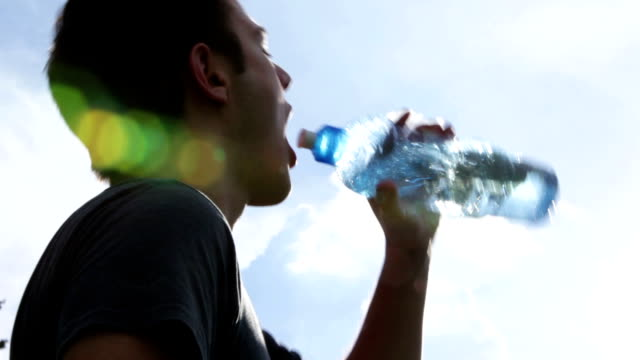 Thirsty young man