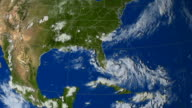This animation shows Hurricane Katrina as seen by NOAA/GOES-12 infrared band from 23rd August through 30th August 2005