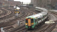 This clip contains a black gap third party content removed VOICED A 38billionpound plan to revamp Britain's railways has been suspended by the...