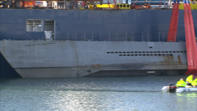 This clip contains a black gap third party content removed VOICED A huge logistical operation has swung into place to get a 240tonne replica of a...