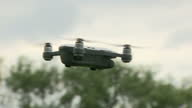 This clip contains a black gap third party content removed VOICED The government says it's planning to introduce safety awareness tests for drone...