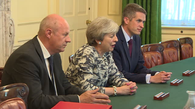 This clip contains black gaps third party content removed VOICED Theresa May has ordered an investigation into First Secretary of State Damian Green...