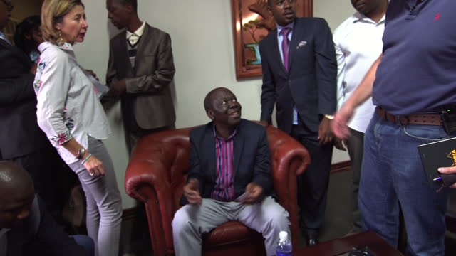 This clip contains black gaps third party content removed VOICED Questions remain this morning over Zimbabwe's political future with Robert Mugabe...