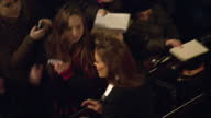 This clip is mute CLEAN Exterior high shots of Brad Pitt and Angelina Jolie on the red carpet at the 2014 BAFTA awards>> on February 16 2014 in...