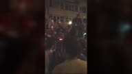 This footage dated on July 15 shows that people try to hinder coup attempt by blocking of a tank on the road in Uskudar district during Parallel...