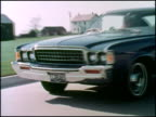This is the second part of a 1973 American Motors promotion film for its luxury car the Ambassador Clips include a blue hard top and green sedan...
