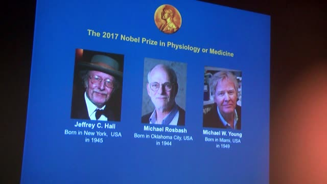 Thomas Perlmann Secretary of the Nobel Committee for Physiology or Medicine announces the winners of the 2017 Nobel Prize in Physiology or Medicine...