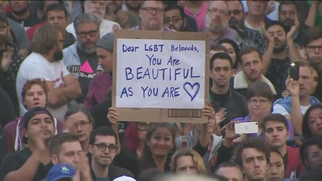 KTLA Thousands Attend A Vigil For Those Killed Gay Club in Orlando Florida The vigil was held in Downtown Los Angeles Also in attendance was Lady Gaga