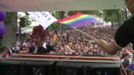 Thousands attend the Gay Pride parade in Paris under tight security three weeks after the attack against a gay club in Orlando