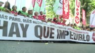 Thousands joined a protest march in the Spanish capital Sunday against the conservative government's austerity policies amid growing uncertainty over...