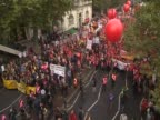 Thousands march in central London against cuts