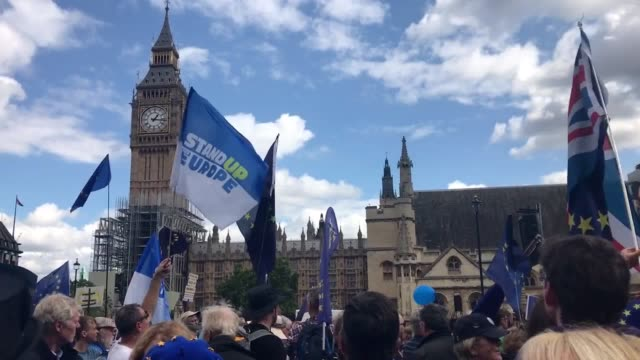 Thousands of antiBrexit marchers are descending on Westminster to demand that Britain stays in the European Union Organisers estimated at least 50000...
