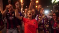 Thousands of Barcelona fans took to the streets Saturday night to celebrate their team's 31 Champions League final victory over Juventus making the...