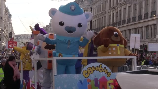 Thousands of children attended the Hamleys Christmas Toy Parade on Regent Street where they were thrilled by the likes of Santa Sonic the Hedgehog...