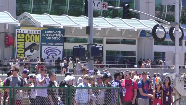 Thousands of fans walking streets of San Diego at Comic Con in San Diego in Celebrity Sightings in San Diego