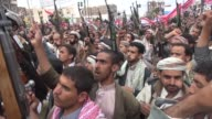 Thousands of Huthi supporters demonstrated in the Yemens capital of Sanaa on Friday as Saudi Arabia stepped up retaliatory air strikes on the Shiite...