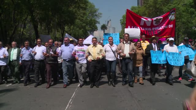 Thousands of Mexico City taxi drivers snarled traffic in the mega capital on Monday in a protest demanding that the government ban US ride sharing...