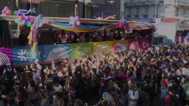 Thousands of people attend the annual gay pride parade in Buenos Aires