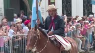 Thousands of people attend the closing day of the Gaucho Festival in San Antonio de Areco Argentina