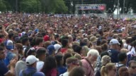 Thousands of people gathered in Grant Park to watch the USGermany World Cup soccer match in Chicago on June 26 2014