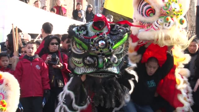 Thousands of people gathered in New York on Sunday to celebrate the Lunar New Year with parades through Chinatown New York New York United States
