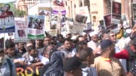Thousands of people march to condemn the ongoing killings of Rohingya Muslims in Myanmar's Rakhine state on September 13 2017 in Cape Town South...