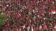 KTLA Thousands of people marched in Los Angeles Monday to mark the 102nd anniversary of the 1915 Armenian genocide