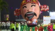 Thousands of people mass in Hong Kong to watch the international Chinese New Year night parade